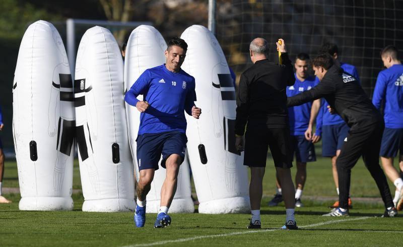 Entrenamiento del Real Oviedo del 16 de noviembre de 2018