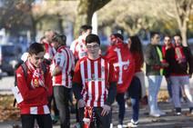 Derbi Oviedo - Sporting: Los aficicionados del Sporting, rumbo a Oviedo para ver el derbi