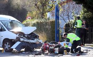 Fallece un motorista arrollado por una furgoneta en Oviedo