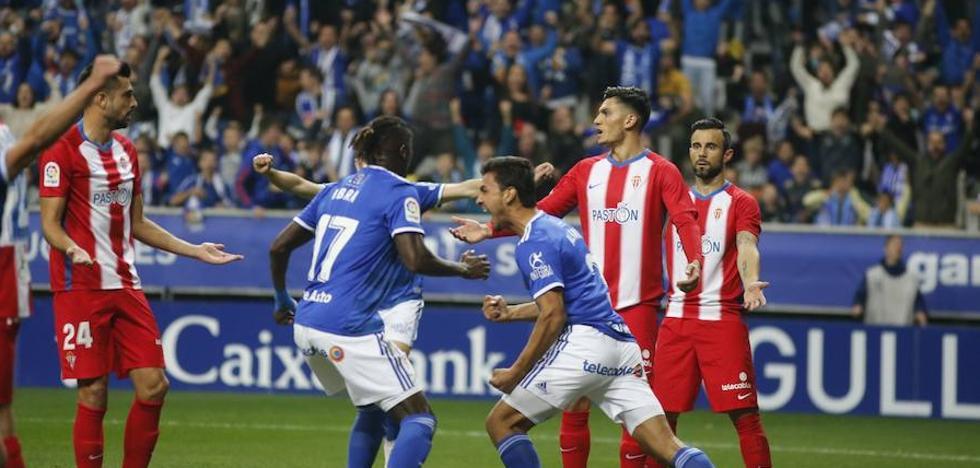 El Oviedo se lleva el derbi y sentencia a Baraja (2-1)
