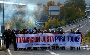 Mineros de León inician una marcha que culminará esta semana en Oviedo