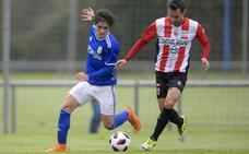 El Oviedo B pierde ante el Logroñés su condición de invicto en casa