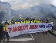 La marcha minera leonesa llega a Asturias