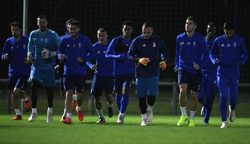 Entrenamiento del Real Oviedo (20/11/18)