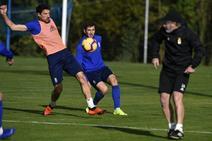 Entrenamiento del Real Oviedo (21/11/18)