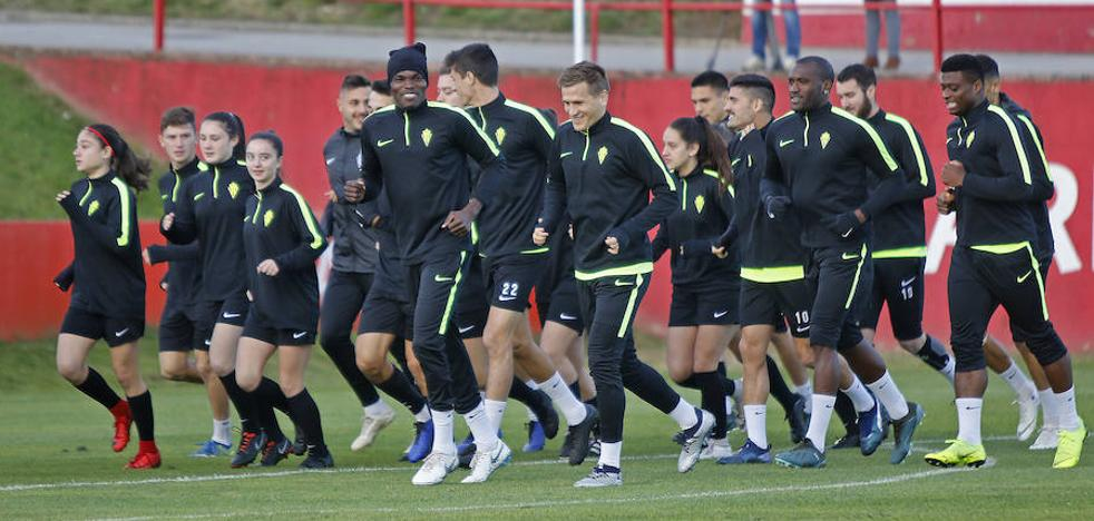 Hernán, Juan Rodríguez y Neftali se quedan en Gijón