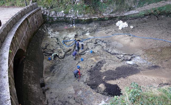 El pozón de Covadonga se vacía