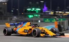 Fernando Alonso, decimotercero en la primera sesión del GP de Abu Dabi