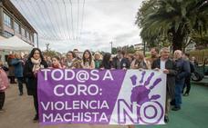 Toda la comarca a coro contra la violencia de género
