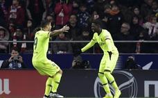 Dembélé, la cara en un Barça con dos lesionados más