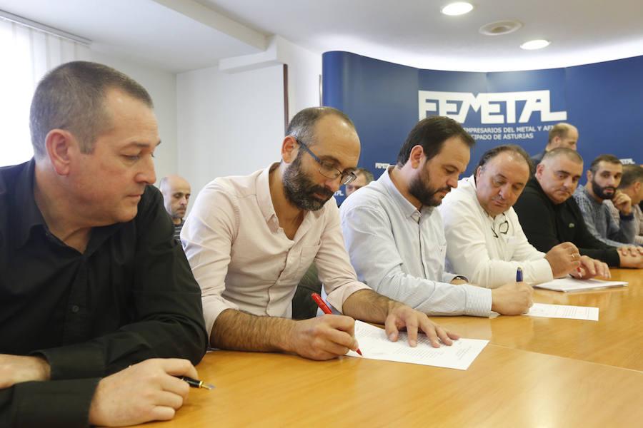 Un convenio del metal que «da certezas» en Asturias