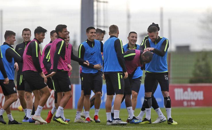 Entrenamiento del Sporting (29-11-18)