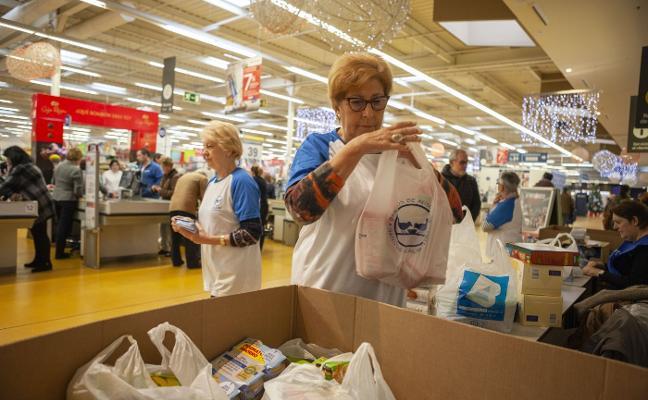 El Banco de Alimentos logra 200.000 kilos de donaciones en su 'Gran Recogida'