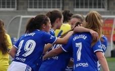 El Oviedo golea en el Díaz Vega al Oceja