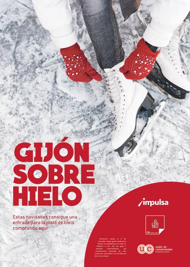 Regalos para la pista de hielo y patines con el comercio del Centro de Gijón