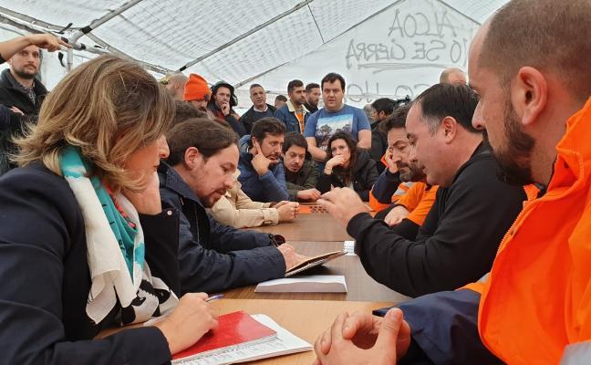 Iglesias pide la intervención estatal de las factorías de Alcoa