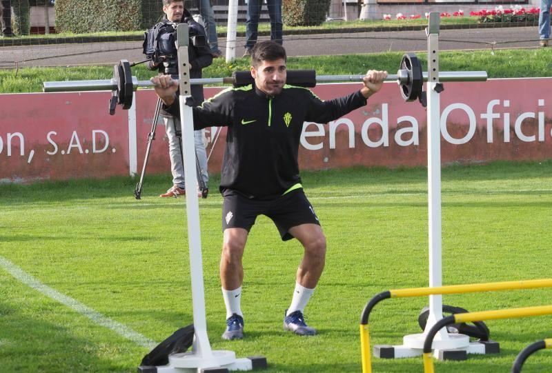 Entrenamiento del Sporting (04/12/2018)