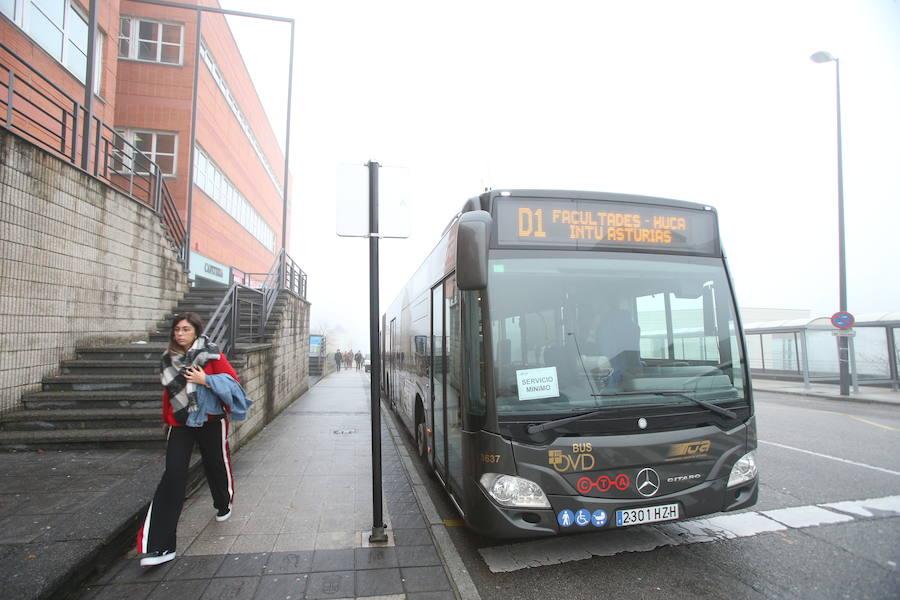 Huelga en los autobuses urbanos de Oviedo
