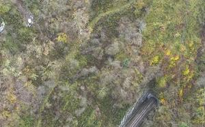 Las 15 toneladas de roca que amenazan la rampa de Pajares