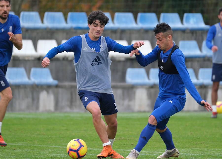 Entrenamiento del Real Oviedo (05/12/2018)