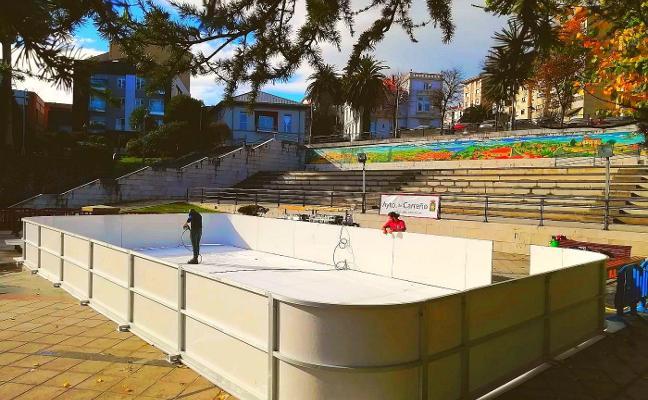 Candás tendrá una pista de hielo ecológico durante las navidades