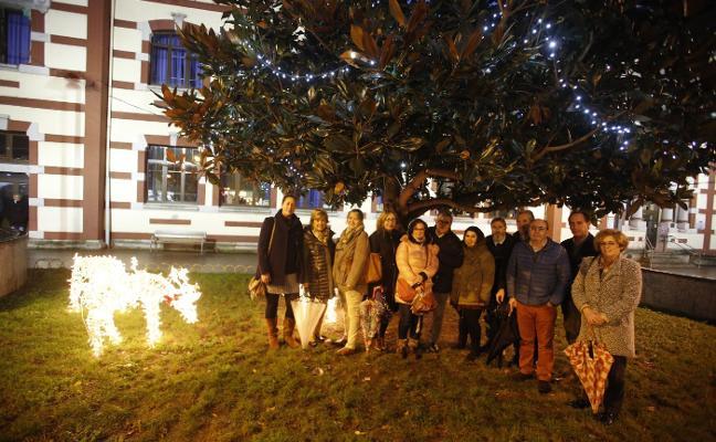 Las calles de Mieres lucen sus motivos navideños
