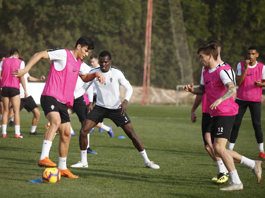 Entrenamiento del Sporting en Alicante (08/12/2018)