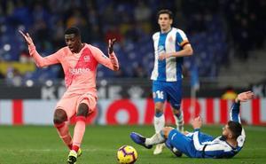 Dembélé estropea la fiesta del Barça