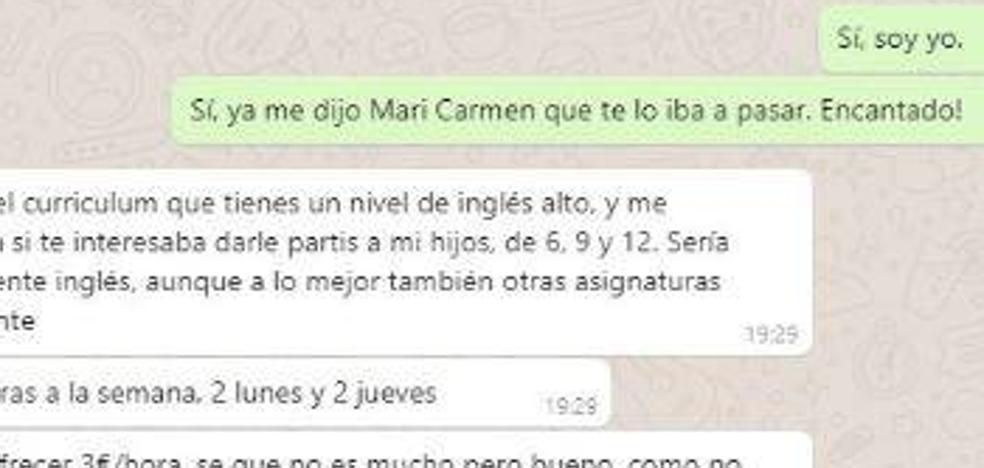 Indignación en Twitter por esta oferta de empleo a un profesor de León