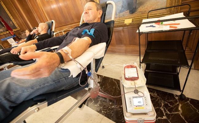 Donantes de sangre y vida en el Ayuntamiento