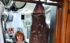 La increíble fotografía de un pixín de 41 kilos