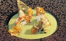 Crema de alcachofas en texturas