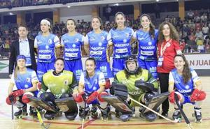El Telecable Hockey gana al descanso en la final de la Copa Intercontinental