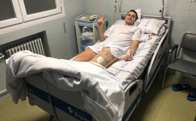 Fran Cárdenas supera con éxito la intervención en su rodilla izquierda
