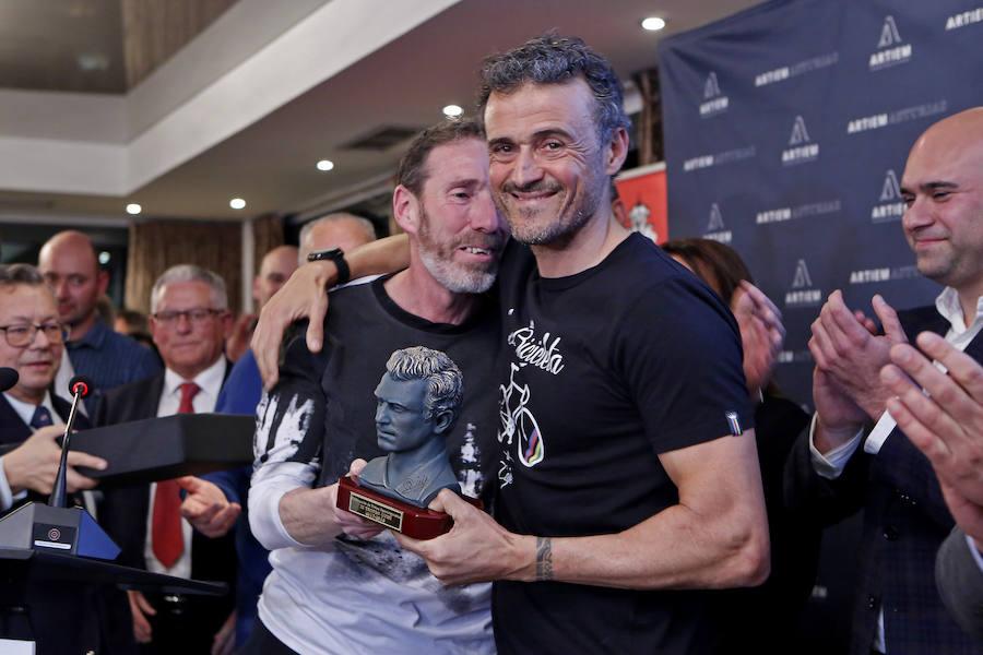 Luis Enrique, protagonista en la entrega de los premios Trofeo Quini