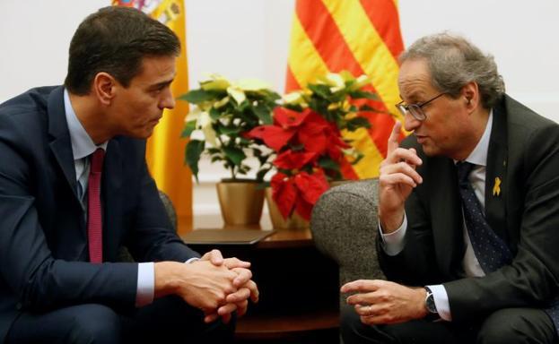 Resultado de imagen de Pedro Sánchez y Torra, Pedralbes, el comercio
