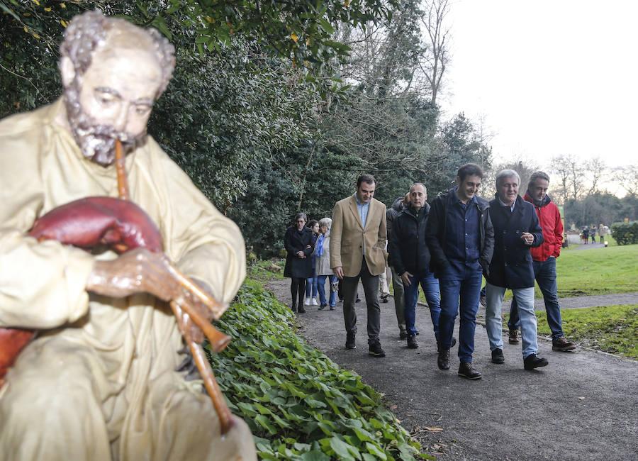 El Jardín Botánico abre al público el Belén de 'El Ponticu'