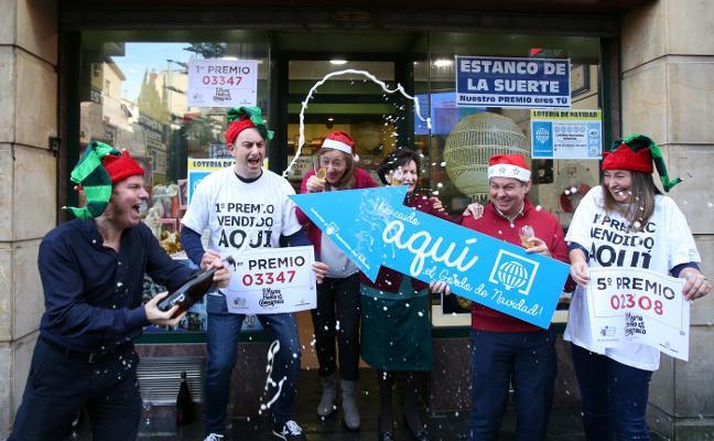 Lotería de Navidad: un quinto y el Gordo en solo 42 minutos en el mismo lugar de Oviedo