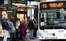 Normalidad en la quinta jornada de huelga en los autobuses de Oviedo