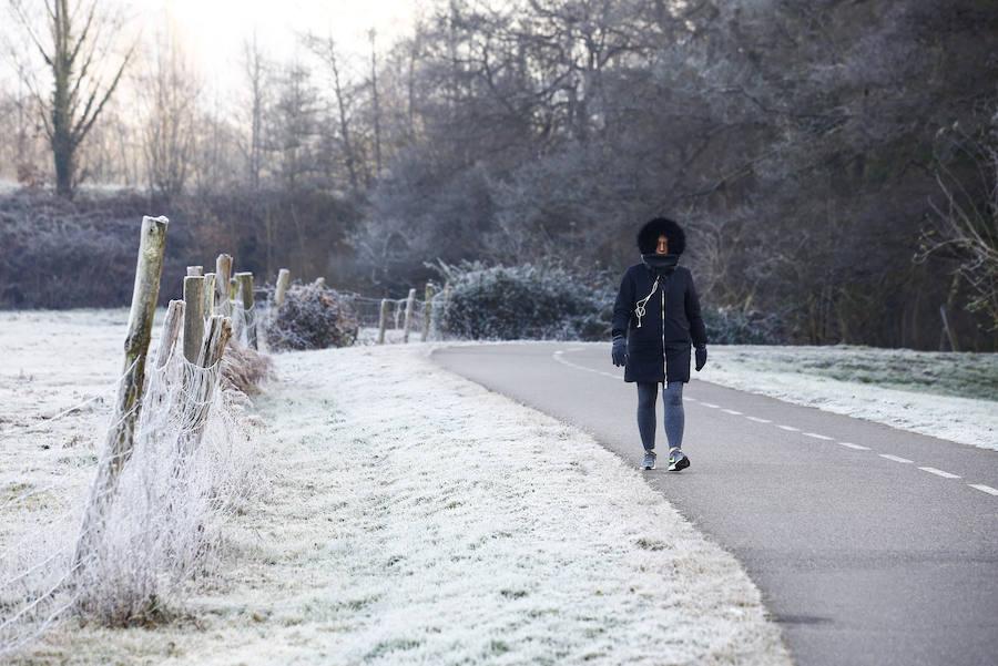 Las impresionantes imágenes que deja el frío en Asturias