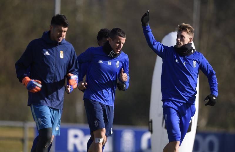 Entrenamiento del Real Oviedo (08/01/2019)