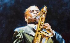 La Fundación Alvargonzález abre el año al ritmo del jazz que pinta Favila González