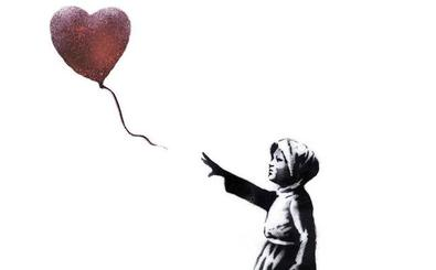 El lienzo autodestruido de Banksy se expone en Alemania