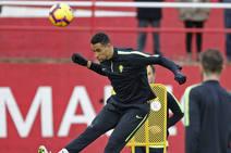 Entrenamiento del Sporting (10/01/2018)