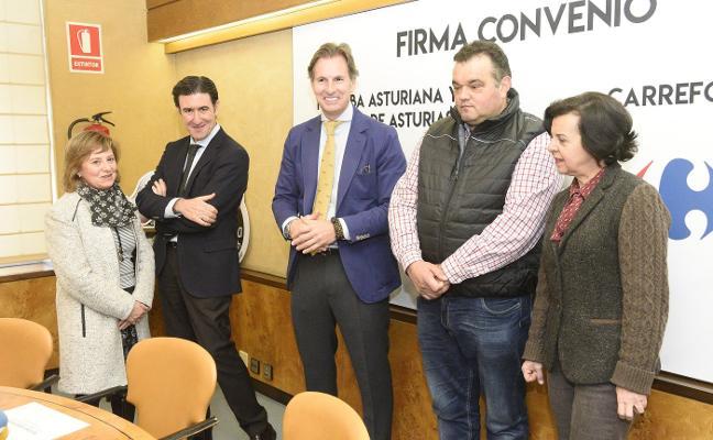 Convenio entre IGP Faba Asturiana y Verdina de Asturias con Carrefour