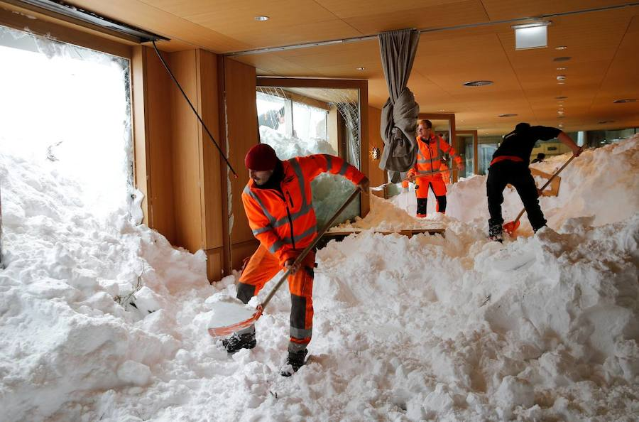 La nieve paraliza al sur de Alemania y Austria
