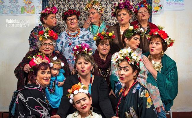 Las mujeres de Valdebárcena se convierten en Frida Kahlo