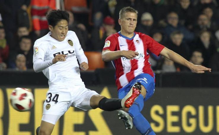 El Valencia - Sporting de octavos de Copa del Rey, en imágenes