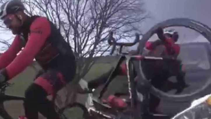 Dani Rovira comparte el vídeo de su brutal atropello mientras montaba en bici