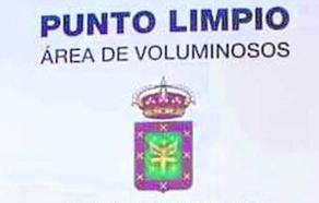 Colocan el escudo de Carreño en el punto limpio de San Martín
